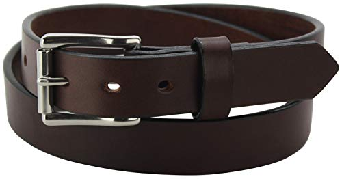"""Men's Brown Leather Belt – Heavy Duty Non-Stitched Belts -1.25"""" Wide, 54 Inches"""