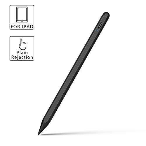 Active Stylus Pen for The New iPad 10.2' (8th./7th. Gen), iPad Pro 10.5' 11' 12.9' /iPad Mini/iPad Air, Jelly Comb 3rd Gen Touch Screen Digital iPad Pencil with Replaceable Tips, Black