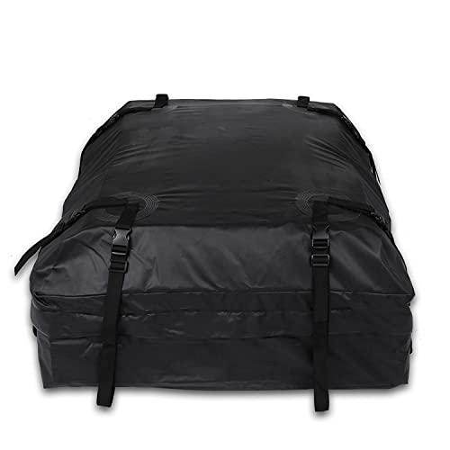 TOOLUCK Caja de Techo para Coche, 430 Litros, Plegable, Resistente al Agua, Portátil, Adecuada para Viajes y Todos los Vehículos con Portaequipajes, Negro (110 × 85 × 46 cm)