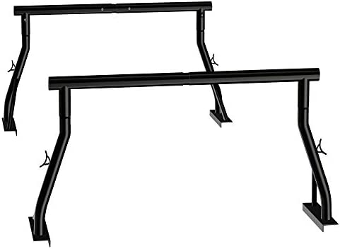 800lbs Capacity Heavy Duty Extendable Universal Pickup Truck Rack Ladder Rack Two bar Set Matte product image
