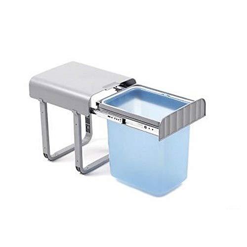 Cubo de basura de plástico para poner debajo del fregadero, deslizante, de 16litros de capacidad