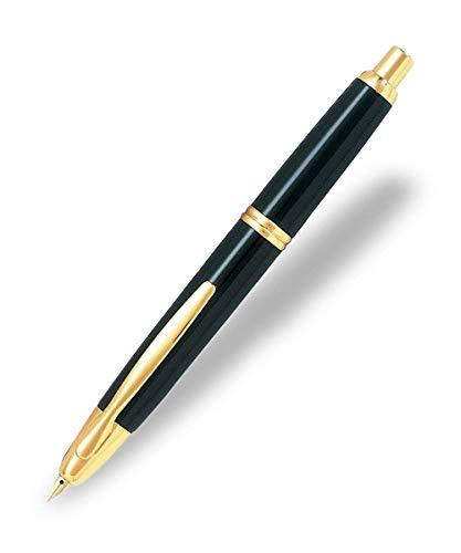 Pilot Capless Gold Medium - Pluma estilográfica (trazo medio), negro