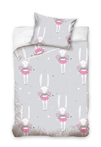 Baby Bettwäsche Set 2tlg. 100% Baumwolle Größe: 100x135 cm, 40x60 cm, ÖkoTex Standard 100