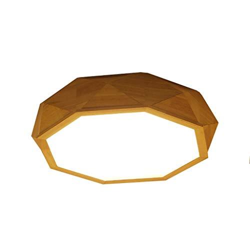 Cdbl -plafondlamp kinderkamer plafondlamp LED plafondlamp woonkamer licht massief hout slaapkamerlamp ronde studeerlamp wit licht 2 maten (grootte: 45cm) slaapkamer plafondlampen