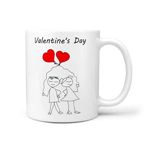 Taza de café de cerámica lisa Personal Mug – Regalo para niña blanco 330 ml
