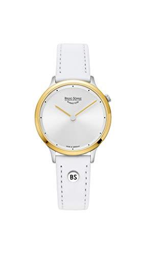 Bruno Söhnle Damen Analog Quarz Uhr mit Echtes Leder Armband 17-23213-251