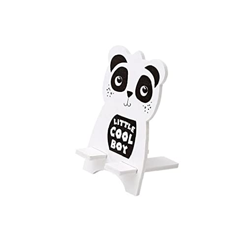 Tuimiyisou Creativa Linda del teléfono Celular del Estilo Animal de Soporte de Madera Titular del teléfono Inteligente de la Tableta del teléfono móvil Montaje del Soporte Panda Totalmente Adaptado