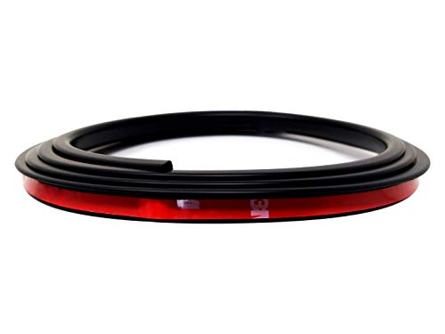 Preisvergleich Produktbild Quattroerre 12036 Türstopper und Kantenschutz für Auto,  Schwarz,  7 x 1800 mm