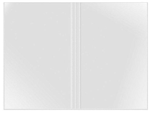 Veloflex 3244500 Doppelhülle DIN A4, Klemmbinderhülle, Klemmschienenhülle, dokumentenechte PP-Folie, 10 Stück