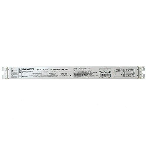 Sylvania qtp2X 28t5/Unv PSN fluorescente lastre, F28T5, 2lámpara, 28W T5, 120/277V