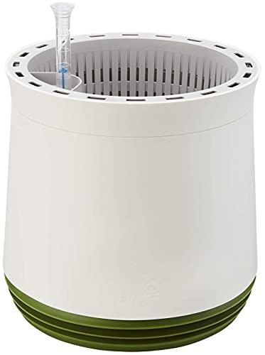 AIRY Sistema de tamaño M (Ø 28 cm) – Sistema patentado con la fuerza de las plantas como purificador de aire natural y humidificador para interiores (Snow White/Late Spring)