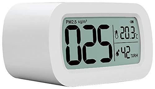 CASAcontrol Luftqualität-Messgerät: PM2,5-Feinstaub-Messgerät mit Temperatur- und Luftfeuchtigkeitsanzeige (Feinstaubsensor)