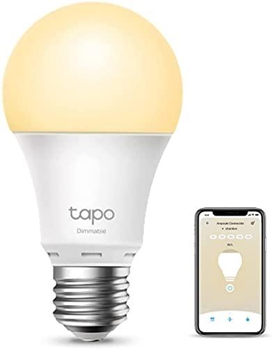 TP-Link Tapo Ampoule Connectée Wifi, Ampoule LED E27 Blanc Chaud 8.7W 806Lm, Smart Ampoule compatible avec Alexa, Google Home et Siri, Contrôle à distance, 1PCS [Classe énergétique A+](Tapo L510E)