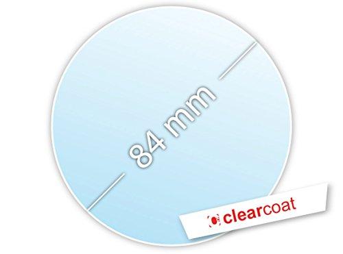 .drivezero. Clearcoat transparente Trägerfolie 84 mm für Umweltplakette/Feinstaubplakette