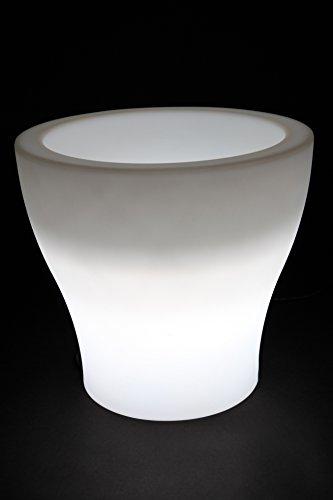 point-garden Vaso per Fiori Vaso per Piante Illuminato con Lampada di Design