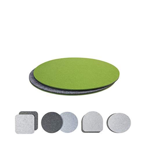 luxdag Sitzkissen Polster zweifarbig 2er Set (Form und Farbe wählbar) für Stühle, Bänke, Hocker | Stuhlkissen aus Filz