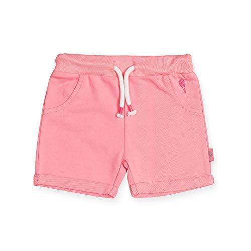 Jollein - Baby Shorts Aloha Pink Größe 62/68 - Kurze Hose aus 100% Bio-Baumwolle - Coole Sommer Sweatpants in Rosa für Mädchen und Jungen (Unisex)