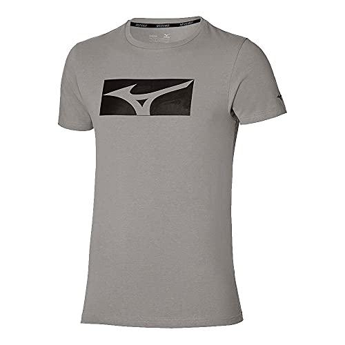 Mizuno Athletic RB Camiseta, Gris, XL para Hombre
