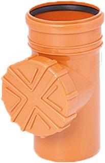 Regen Wasser Reinigungsrohr DN 150 Ø 160 mm braun grau graphit orange Laub Sieb Ablauf Fallrohr Rohr Dachrinne (Orange)