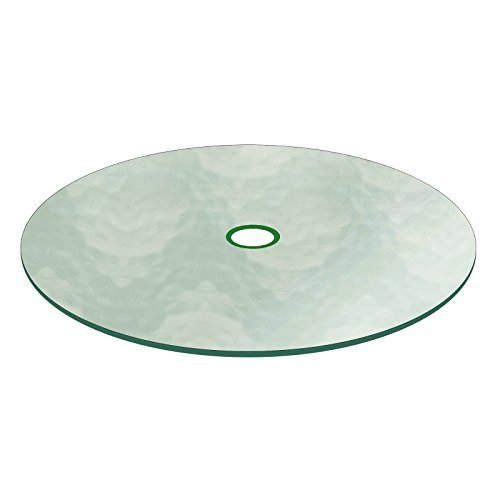 Aquatex Patio Glass Table Top 48' Round 3/16' Thick Flat Tempered w/ 2-1/4' Hole by Fab Glass and Mirror