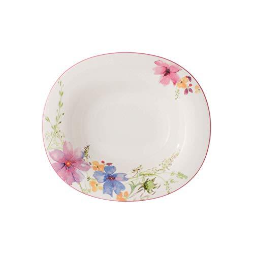 Villeroy & Boch Mariefleur Basic Plato hondo ovalado de 24 x 21 cm, porcelana Premium, 24x21cm