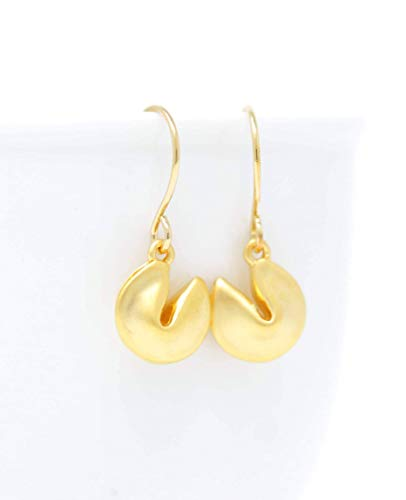 Fortune Cookie Earrings - Gold Plated