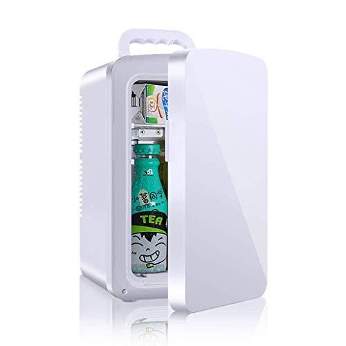 10L Frigorífico para refrigerador Portátil Portátil Pequeña Nevera Coche Casa Dual Uso Mini Congelador 12V / 220V Calefacción y Caja de refrigeración - Blanco WKY (Color : Dual Core)