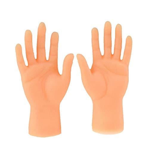 Yoyakie Marioneta del Dedo del Dedo Mini Manos Manos Diminutas con Izquierda Manos Y Derecha para Game Party 2 Piezas
