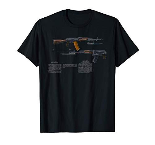 AK-74 Kalash Kalashnikov SOVI8 Propaganda vintage. Camiseta