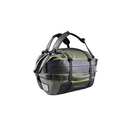 Outdoor camping picnic bag Multifunctional Large-capacity Backpack, Outdoor Travel Portable Mountaineering Bag, Outdoor Equipment Bag (Color : 40L khaki)