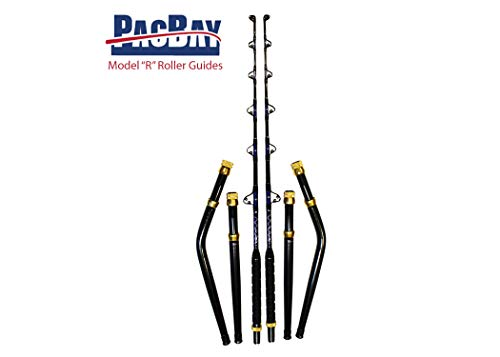Xcaliber Marine Pair of PRO Tournament Series 6' 80-130 LB Saltwater TROLLING RODS Includes Bent and Straight Butt