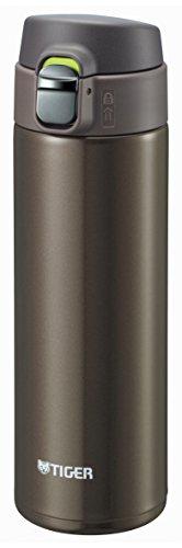 Tiger Mini-Flasche aus Edelstahl, Dream Gravity,  <Saharamagu> leichtgewichtig, Druckverschluss, 0,48L,Braun,mmj-a048-tv, aus Japan