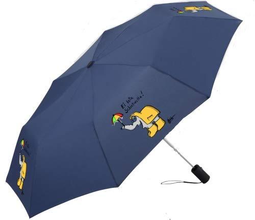 Schietwetter Ottifant Regenschirm/Taschenschirm Denim by Otto Waalkes