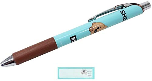 BTS ぺんてる エナージェル シャープペン 日本製 シャーペン 0.5 シャープペンシル BT21 防弾少年団 SHOOKY LINE FRIENDS 当店オリジナルロゴ入り名前シール 2点セット(シャーペン、名前シール)