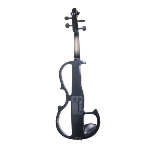 Cecilio 4/4CEVN-2BK Solid Wood Electric/Silent Violin with Ebony...