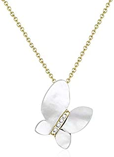 Mestige Gold Chrysalis Necklace with Swarovski Crystals