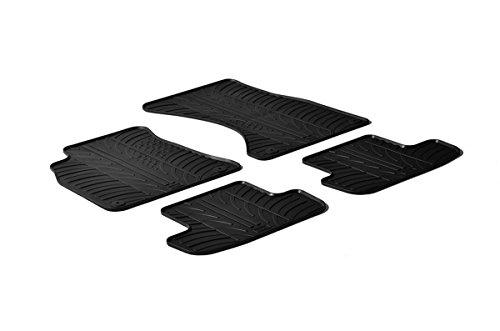 Gledring Set tapis de caoutchouc compatible avec Audi A4 11/2015- (T profil 4-pièces + clips de montage)