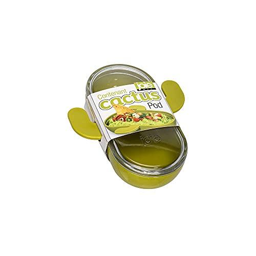 Joie – Recipiente Bote con Tapa en Forma de Cactus Ideal para Guardar Guacamole y Salsas – Plástico de Uso alimentario Libre de BPA – Verde/Transparente