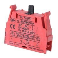 BERNSTEIN PL004001 CONTACT BLOCK, SPST-NC (5 pieces)