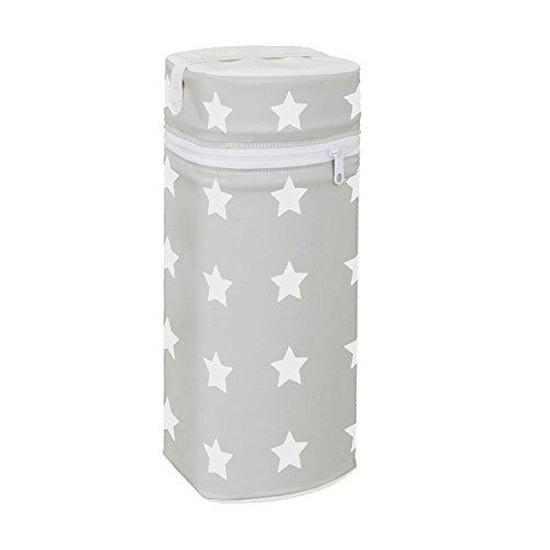 Asmi Thermobox Warmhaltebox Sterne Creme für Standart und Weithalsflasche
