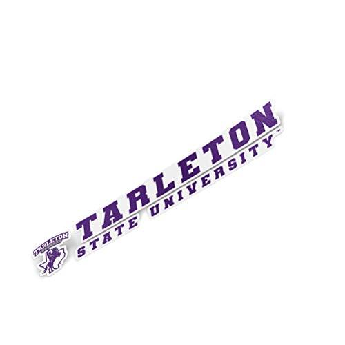 Tarleton State University TSU Texans NCAA Name Logo Vinyl Decal Laptop Water Bottle Car Scrapbook (8 Inch Sticker)