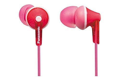 Panasonic RP-HJE125E-P In-Ohr-Kopfhörer (Drei Paar Pass-Stücke, 10-24.000 Hz, 1,1 m Kabel) rosa