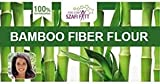 Harina de fibra de bambú pura y sin gluten para hornear pasteles, pan, magdalenas, 300 g x 6 paquetes multipack de harina de fibra de bambú