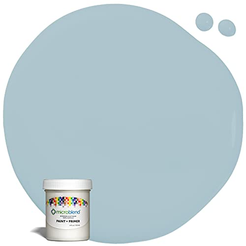 Microblend Interior Paint and Primer - Light Blue/Periwinkle Promise, Sample, Premium Quality, One Coat Hide, Low VOC, Washable, Microblend Blues Family
