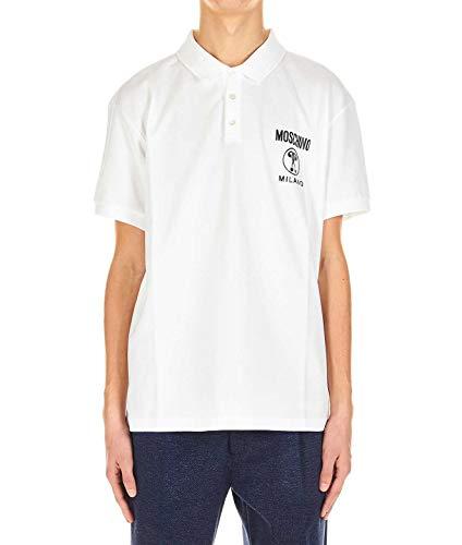 Moschino Luxury Fashion Herren A12022042011001 Weiss Baumwolle Poloshirt   Frühling Sommer 20