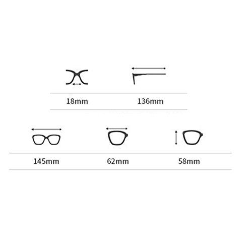 CJC Occhiali da Sole Polarized Protezione UV400