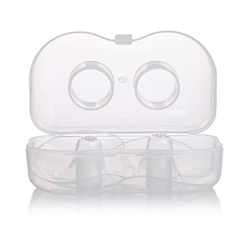 1 paire de boucliers de mamelon d'allaitement de forme ronde en silicone protecteurs de soins infirmiers housses de protection avec boîte de rangement pour femmes 4x3x1in