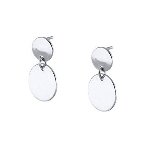BOSAIYA SS1 2pcs 925 Sterling Silver Minimalist Punk Mujer Lovers' Couples Ladies Stud Earrings For Anniversary Wedding Mini Fine Earring TL0412 (Gem Color : Navy Blue)