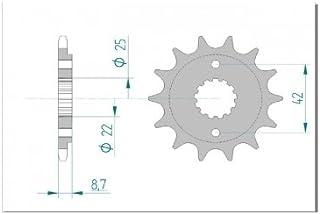 Suchergebnis Auf Für Kettenritzel Motorrad Ersatzteile24 Kettenritzel Antrieb Getriebe Auto Motorrad