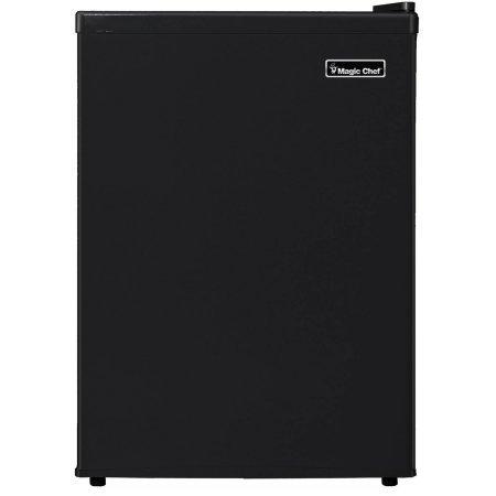 Magic Chef 2.4 cu ft Compact Single Door Refrigerator, Black